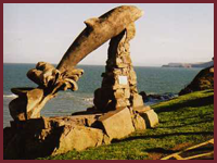 Aberporth's Dolphin carved by Paul Clarke