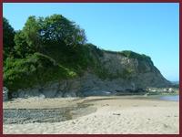 Aberporth's white sand beach