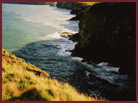 The cliffs on the coastal path between Aberporth and Tresaith