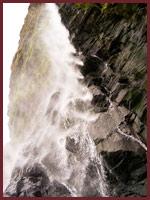 the waterfall at neighbouring beach Tresaith